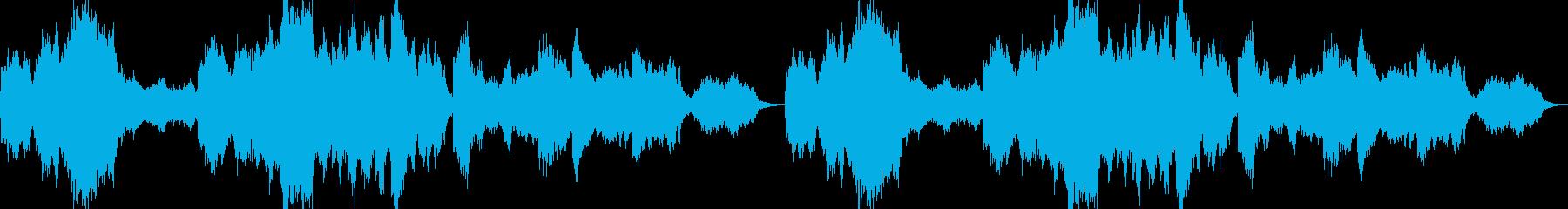 広大で温かい雰囲気のBGMの再生済みの波形