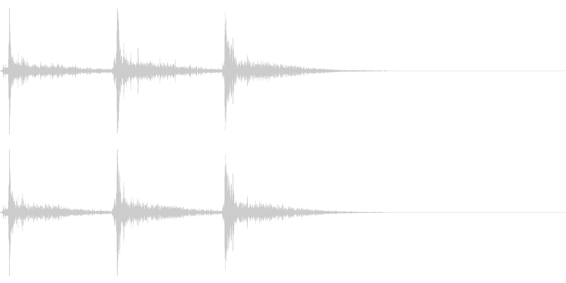 シャンシャンシャン(鈴の音・広がり有り)の未再生の波形