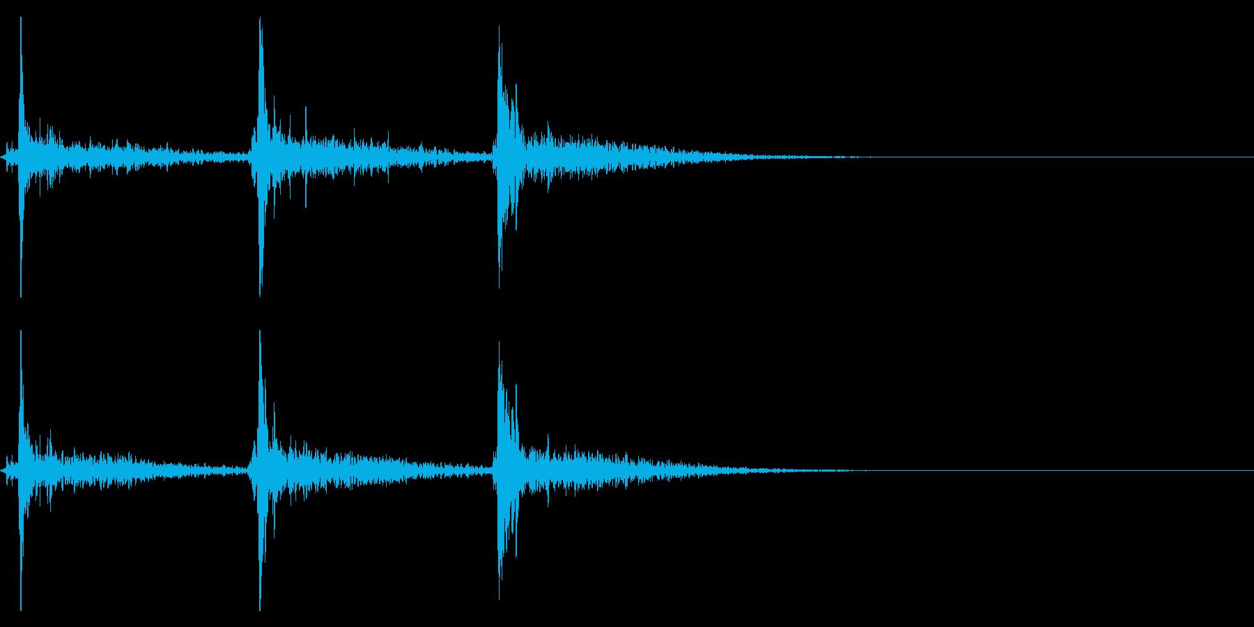 シャンシャンシャン(鈴の音・広がり有り)の再生済みの波形