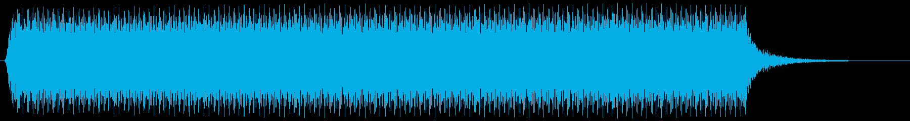 ロングブラストカーホーンの再生済みの波形