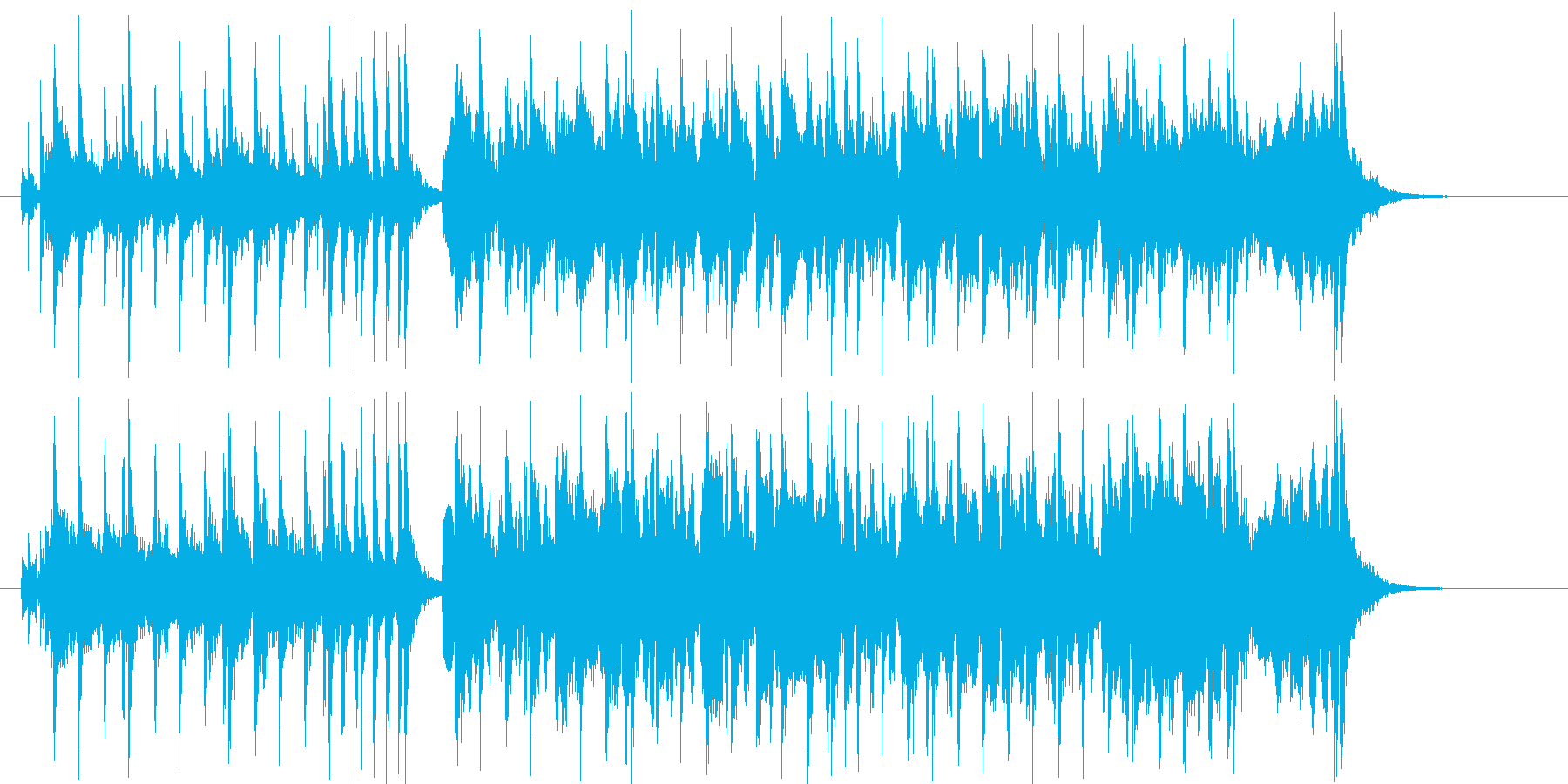 優しく緩やかなシンセポップジングルの再生済みの波形