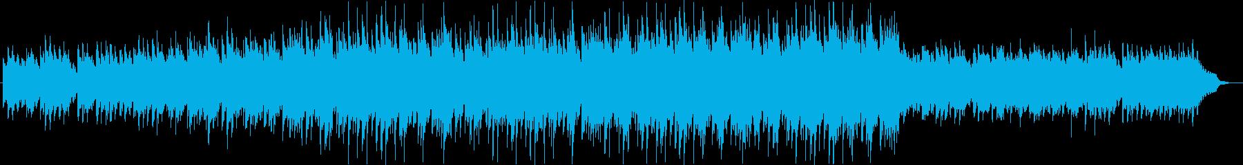 優しく、温かい雰囲気のバラードBGMの再生済みの波形