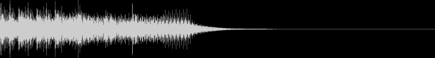 ファミコン風 レトロ ファンファーレ Kの未再生の波形