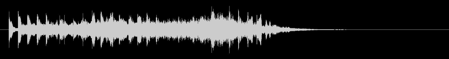 ヒーリング系のサウンドロゴの未再生の波形