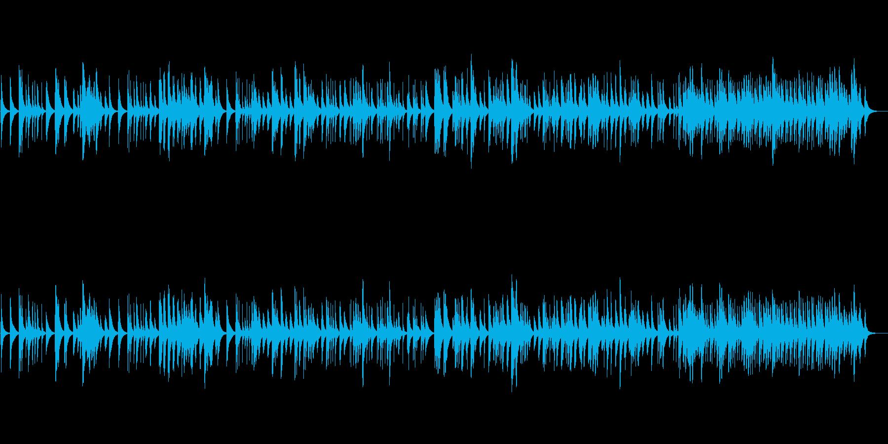 バッハ「ゴルトベルク変奏曲」のオルゴールの再生済みの波形