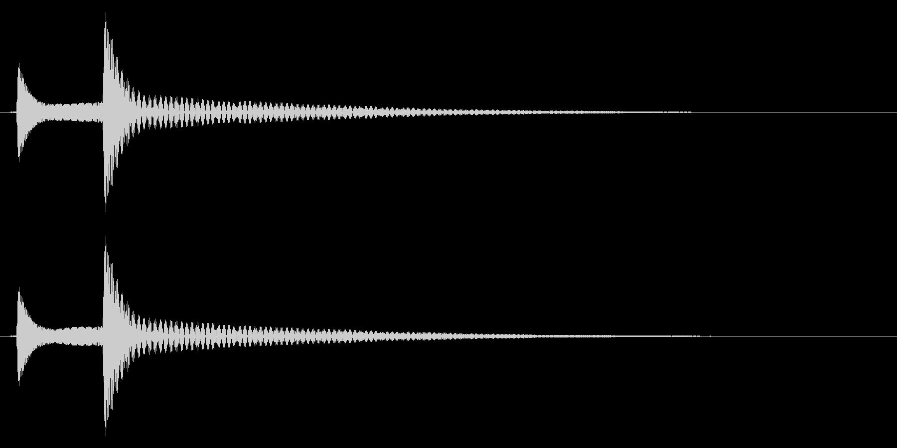 ポコッ↓/木琴/かわいいの未再生の波形