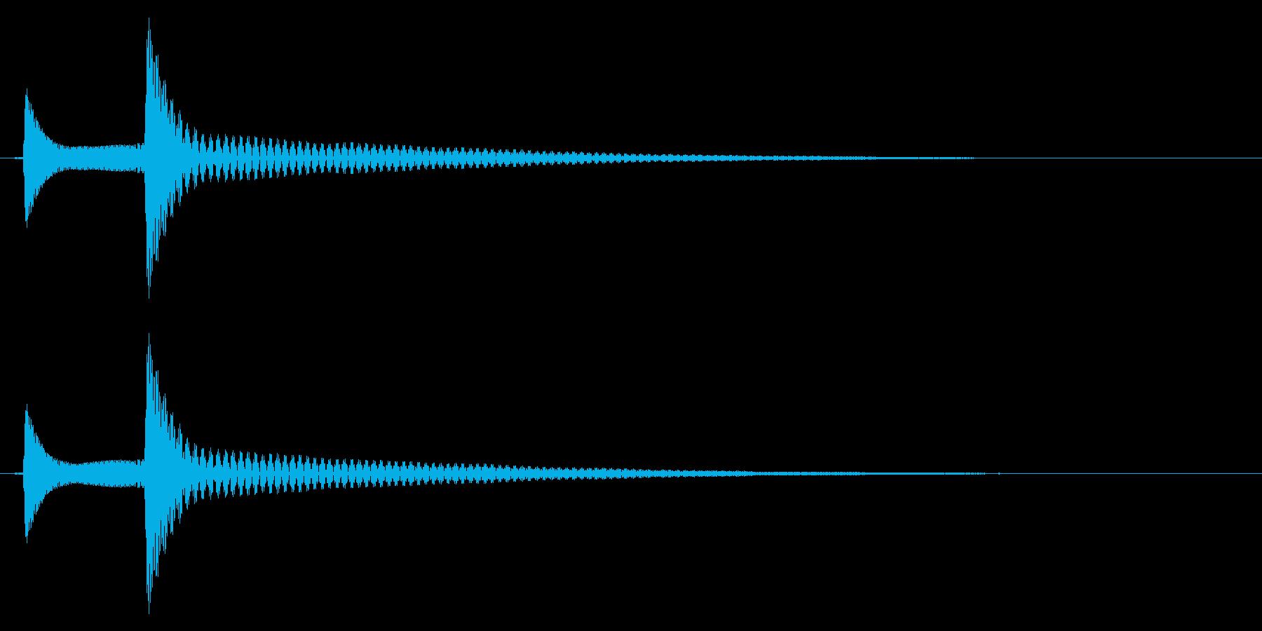 ポコッ↓/木琴/かわいいの再生済みの波形