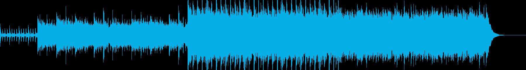 生演奏エレキギター 壮大なアンビエント曲の再生済みの波形
