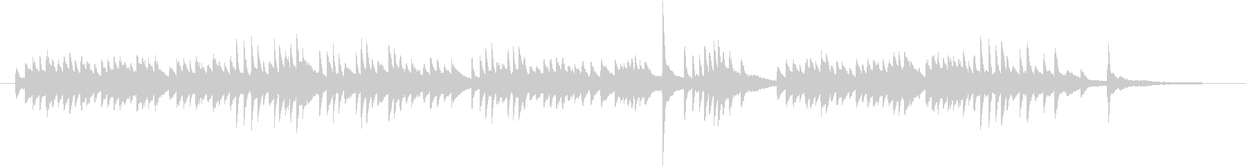 【ピアノソロ】迷い・悲しみ・不安の未再生の波形