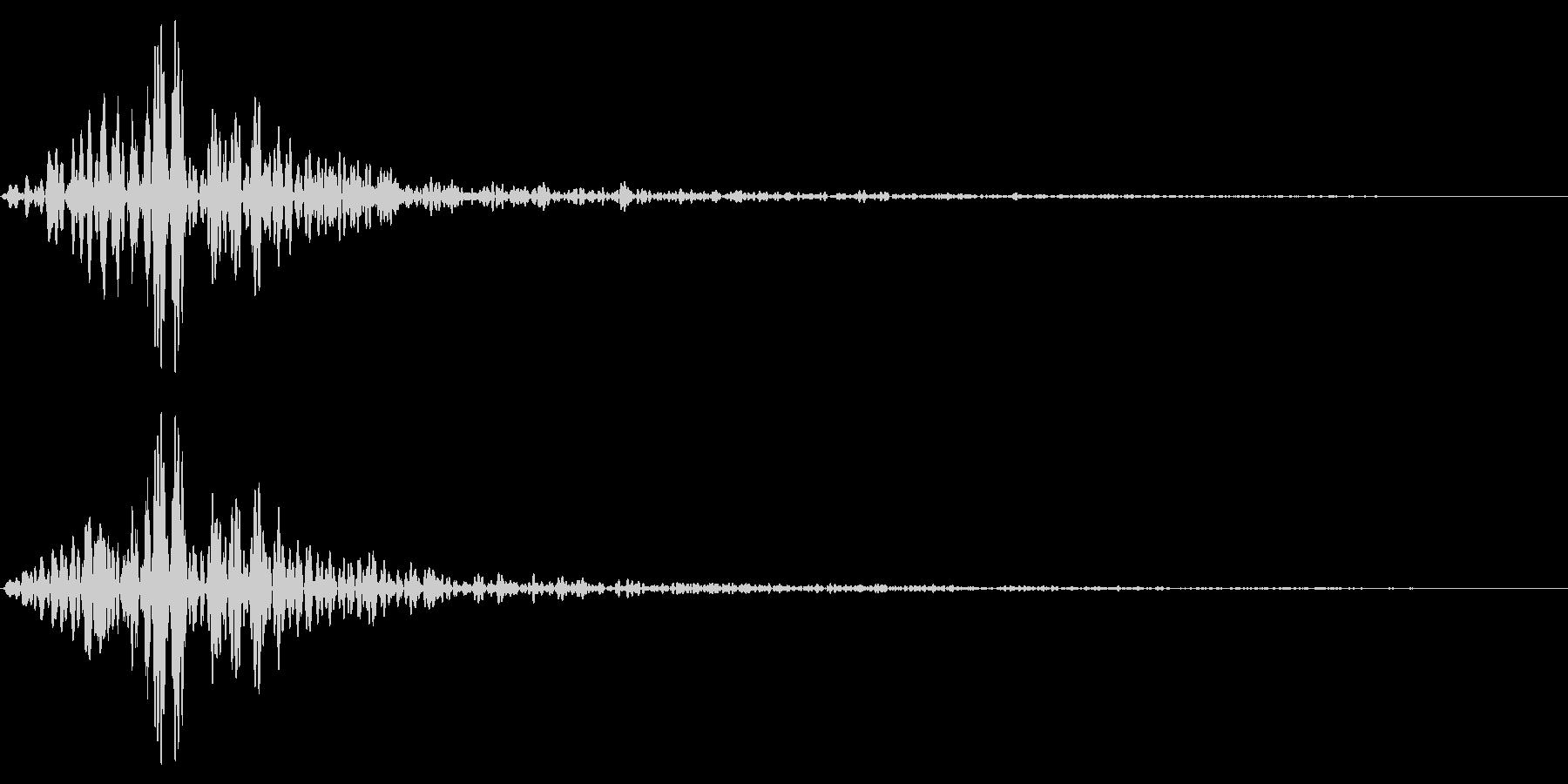 ホラー系アタック音120の未再生の波形