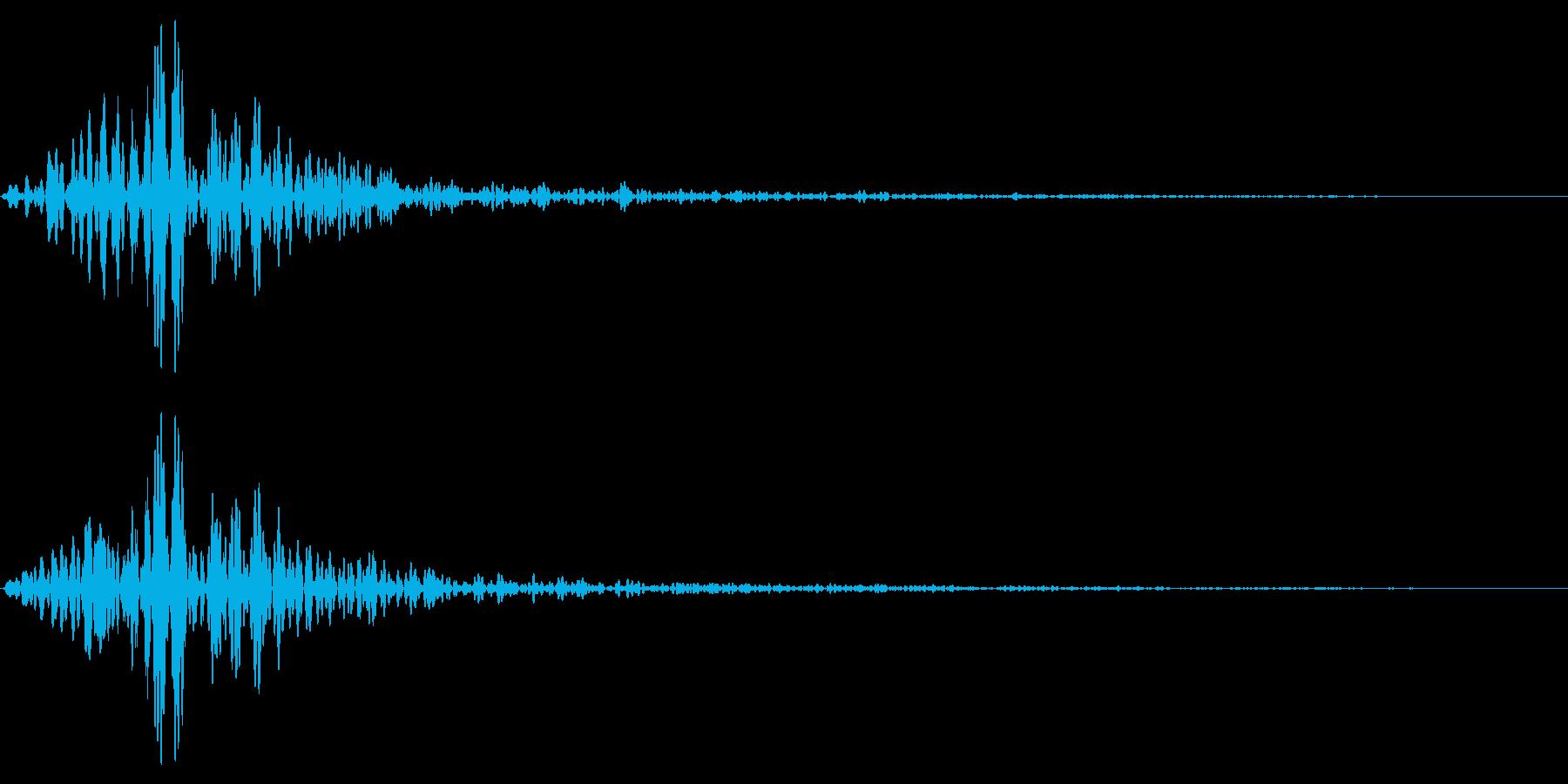 ホラー系アタック音120の再生済みの波形