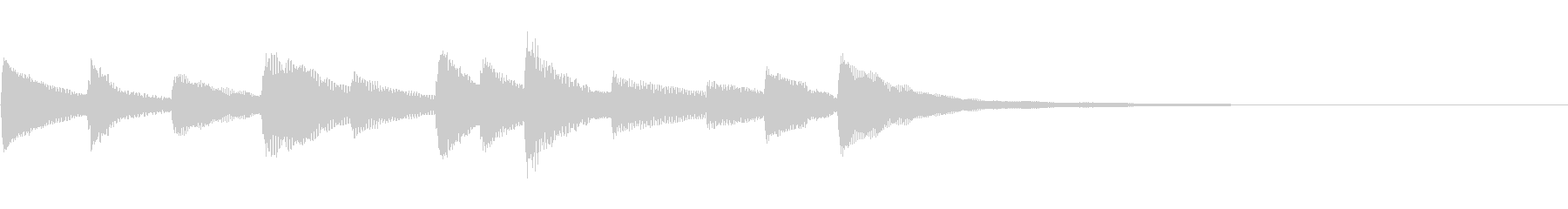 悲しくてきれいなピアノのジングル22の未再生の波形