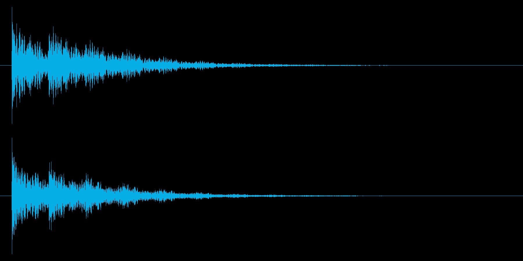 【アクセント44-2】の再生済みの波形
