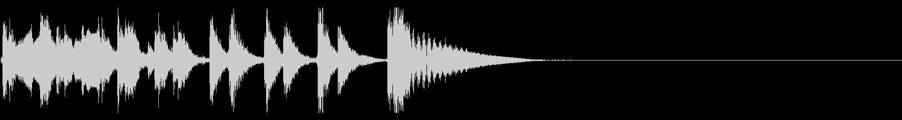 和風 三味線とやっとやっと掛け声 の未再生の波形