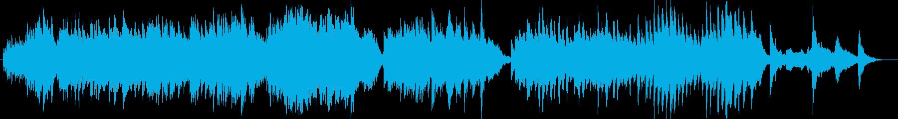 室内楽で暖かい曲の再生済みの波形