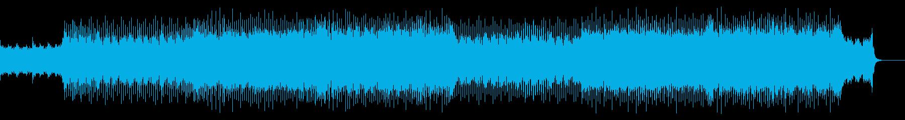 挑戦・希望・前向き/感動的なピアノロックの再生済みの波形