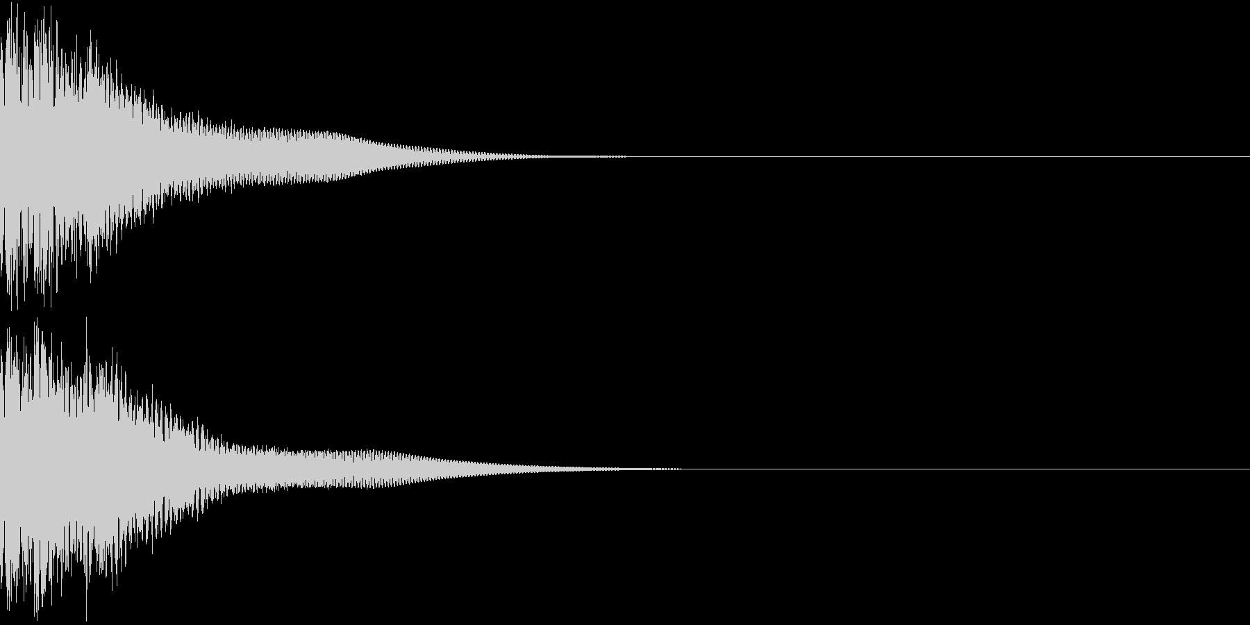 光る  輝く  キュピーン  キラーンCの未再生の波形
