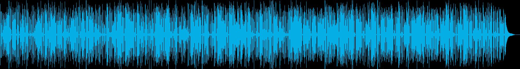 レトロな映像向けわくわくするジャズピアノの再生済みの波形