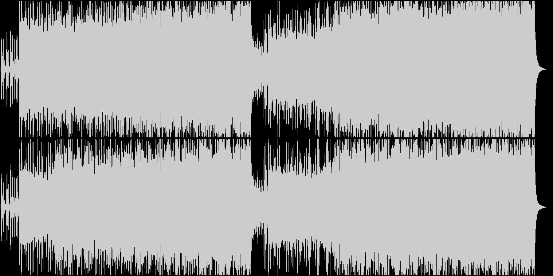 クールなロックンロールサウンドの未再生の波形