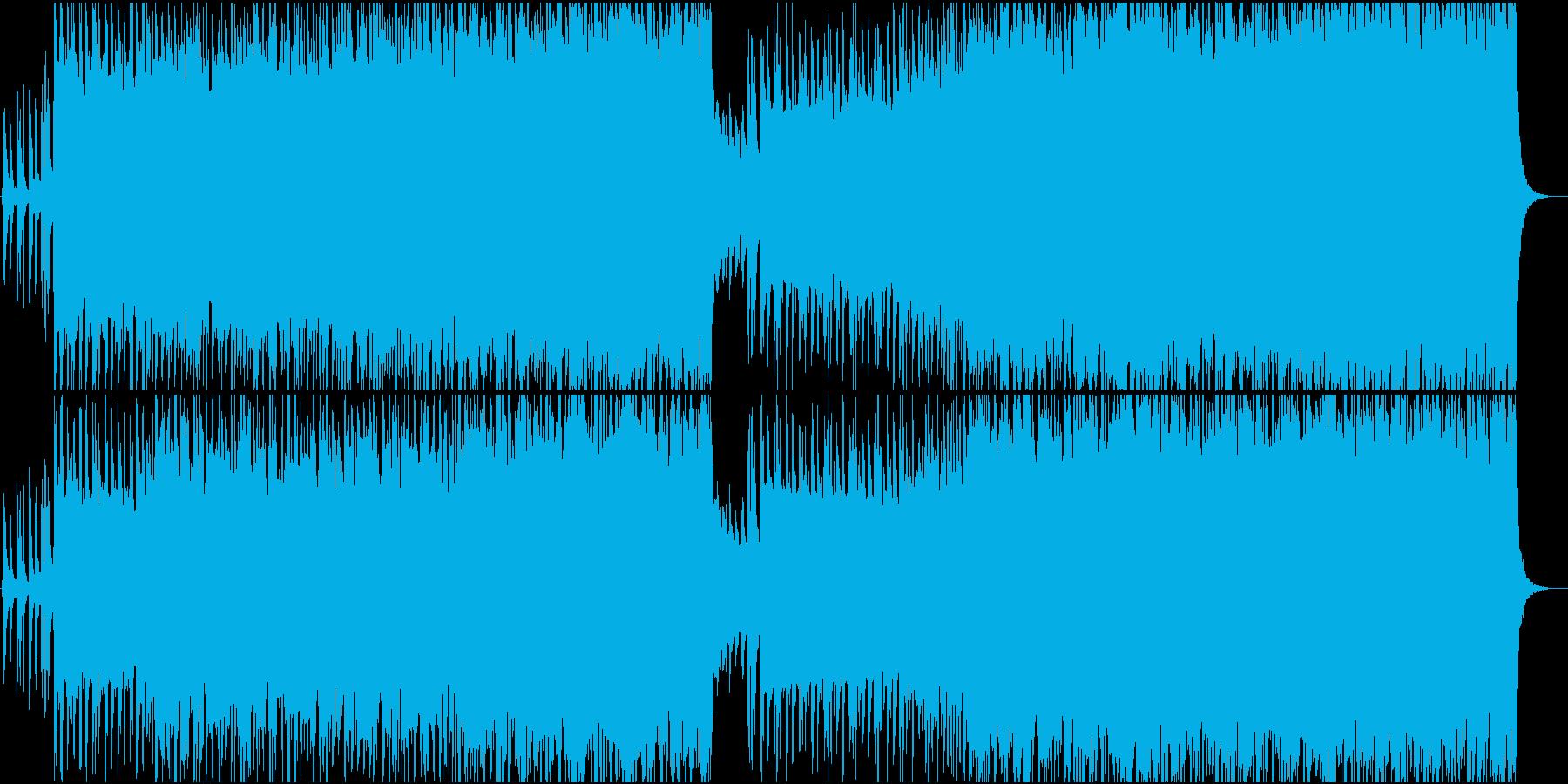 クールなロックンロールサウンドの再生済みの波形
