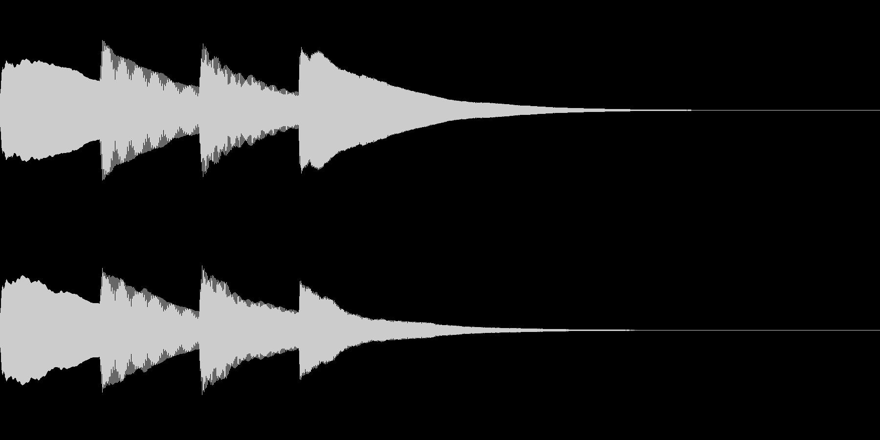お知らせ・アナウンス音B上昇(遅め)01の未再生の波形
