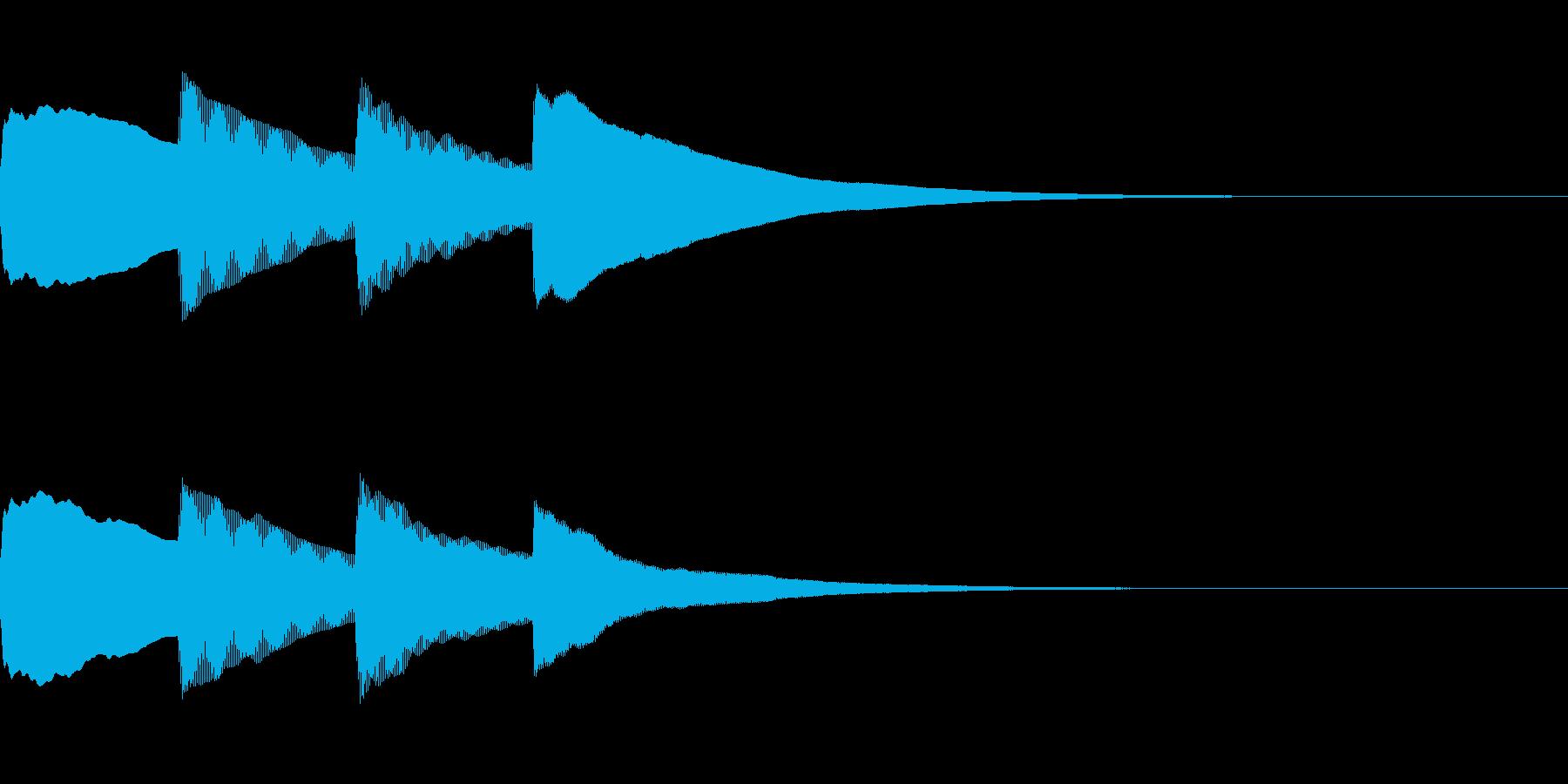 お知らせ・アナウンス音B上昇(遅め)01の再生済みの波形