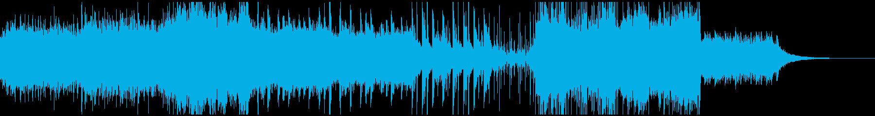 静かな森の泉を連想して作成した曲の再生済みの波形