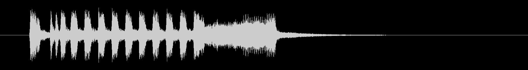 空高く鳴り響くラッパの未再生の波形