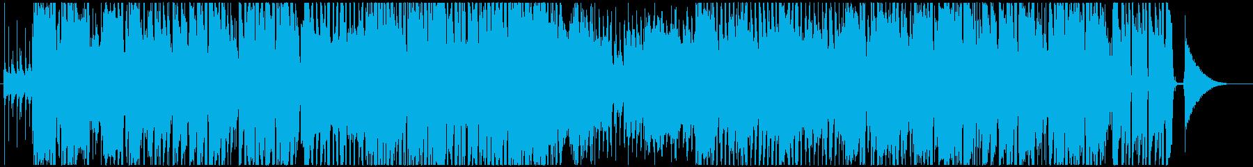 追跡や調査などによく合うジャズ風BGMの再生済みの波形