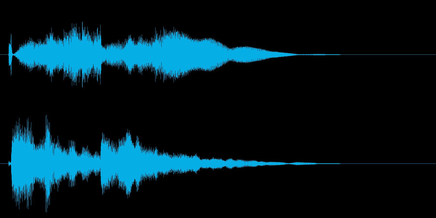 スタイリッシュな決定音の再生済みの波形