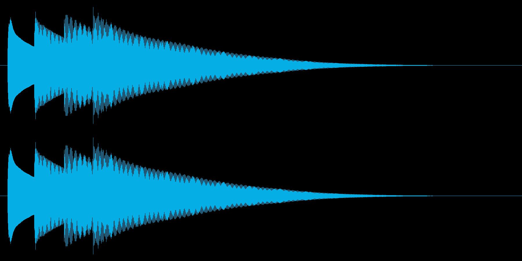 チャイム アナウンス09-3(4点 速いの再生済みの波形