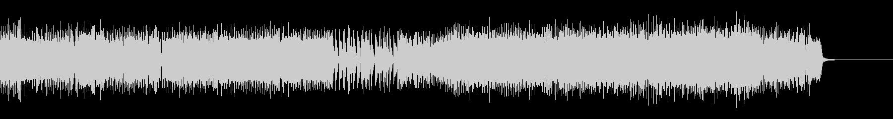 エレキギターとシンセの激しいロック_Mの未再生の波形
