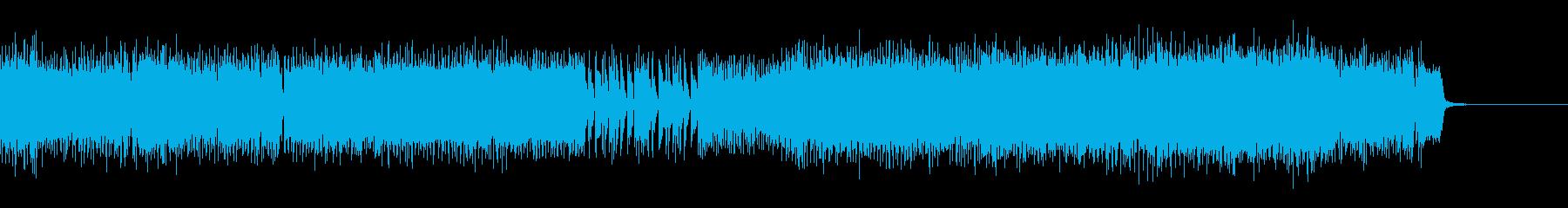 エレキギターとシンセの激しいロック_Mの再生済みの波形