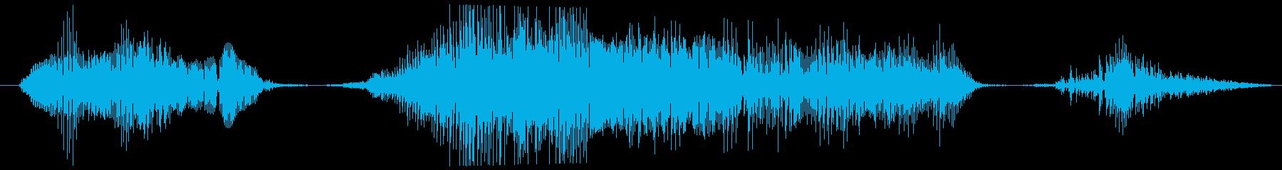 ゴブリン うめき痛い01の再生済みの波形