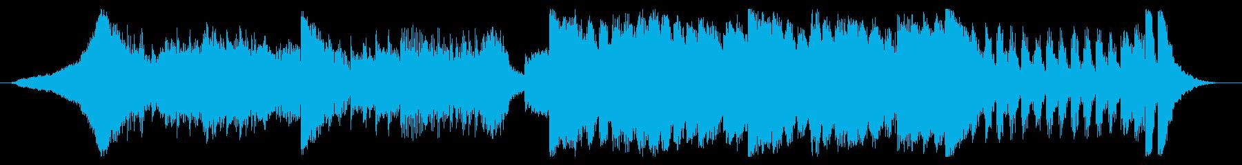 少し怪しさのあるロック-15秒Verの再生済みの波形
