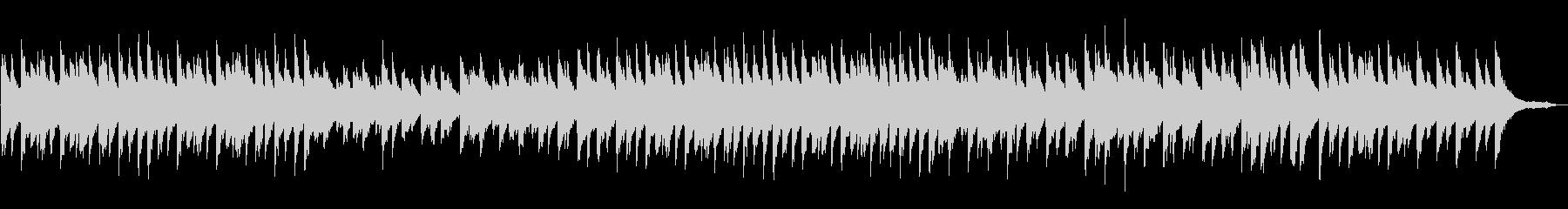 緑をイメージしたゆったりとしたピアノソロの未再生の波形
