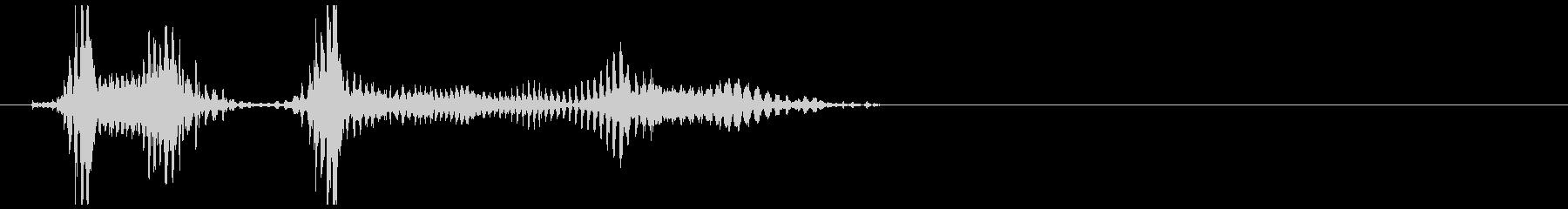 雑魚キャラの発声にの未再生の波形