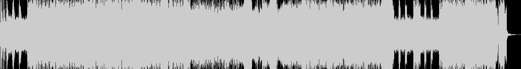 トレモロリフが印象的な激しいメタルの未再生の波形