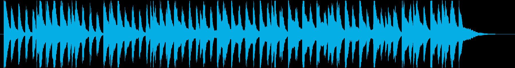 楽しくコミカルなBGM(30秒ver)の再生済みの波形