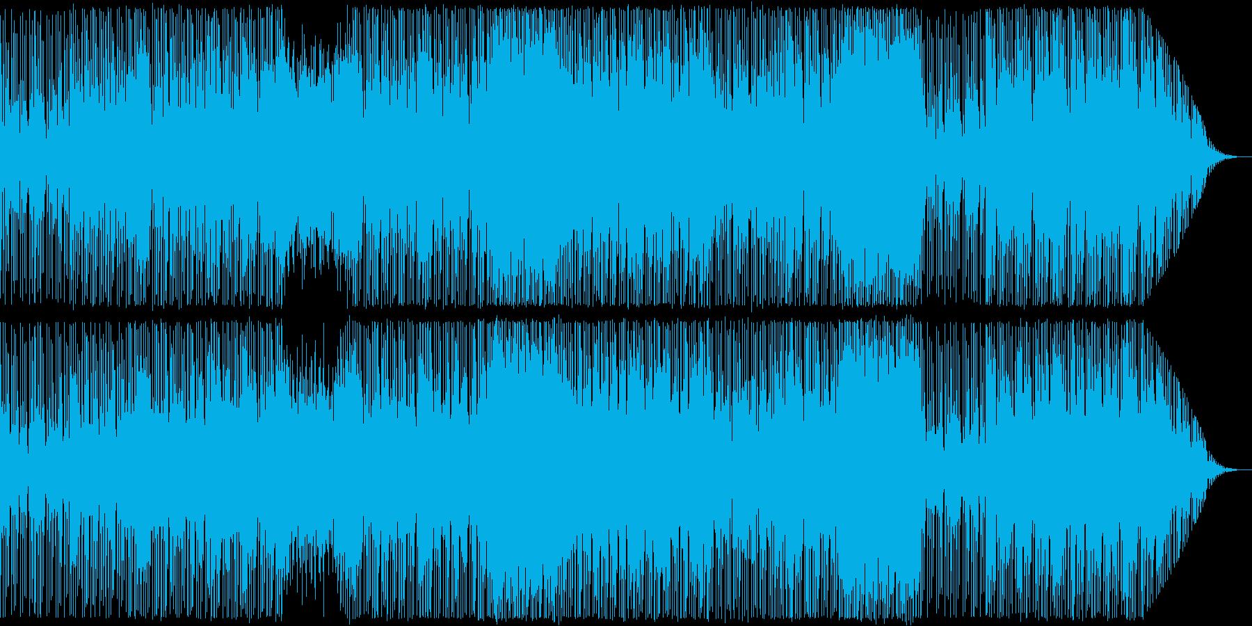 ジャズテイストのハウス・EDMの再生済みの波形