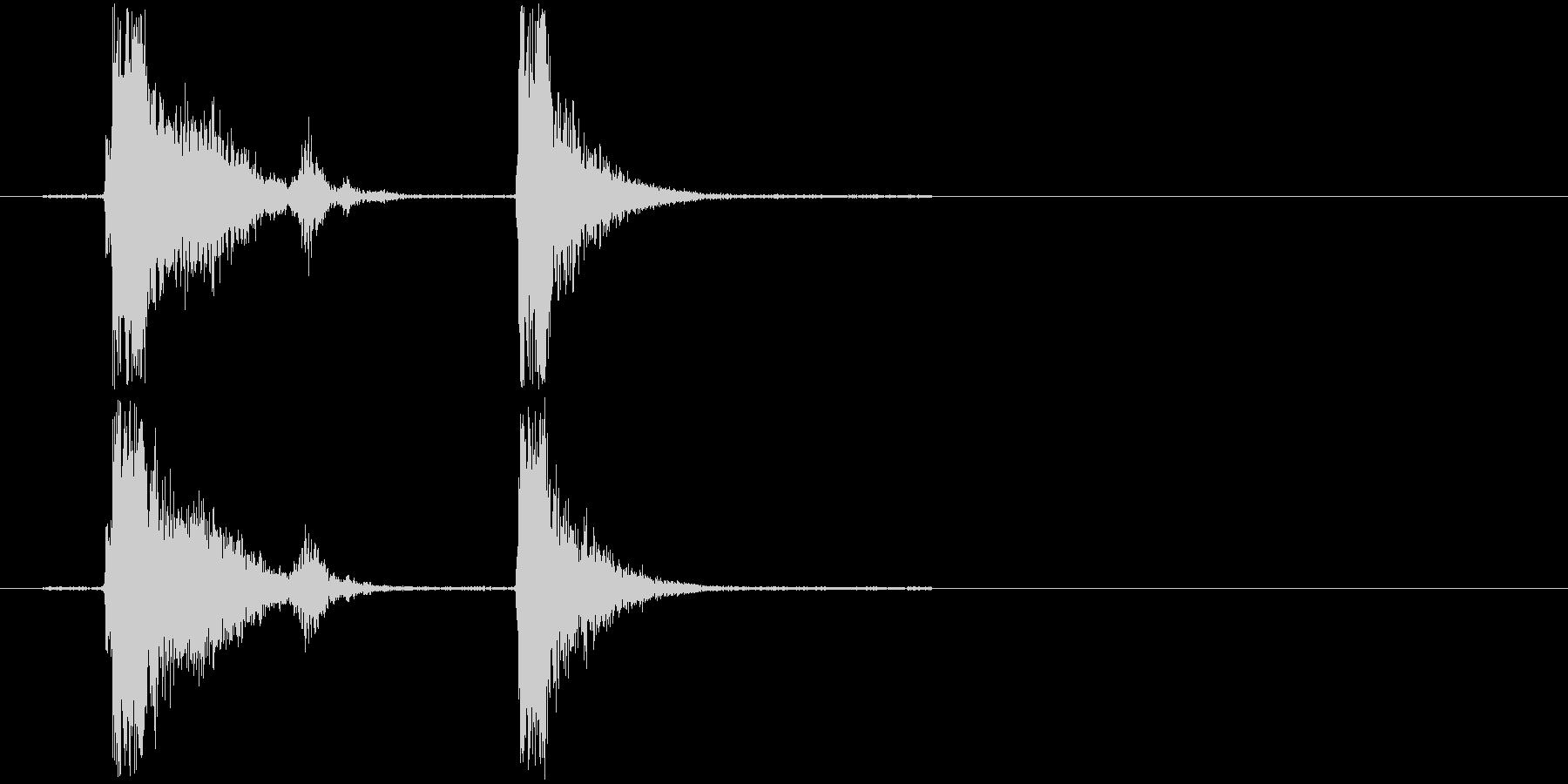 コンコン_咳2の未再生の波形