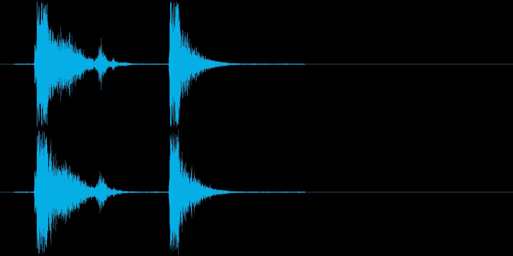 コンコン_咳2の再生済みの波形