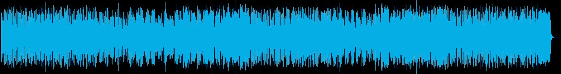 楽しく明るいシンセサイザーサウンドの再生済みの波形