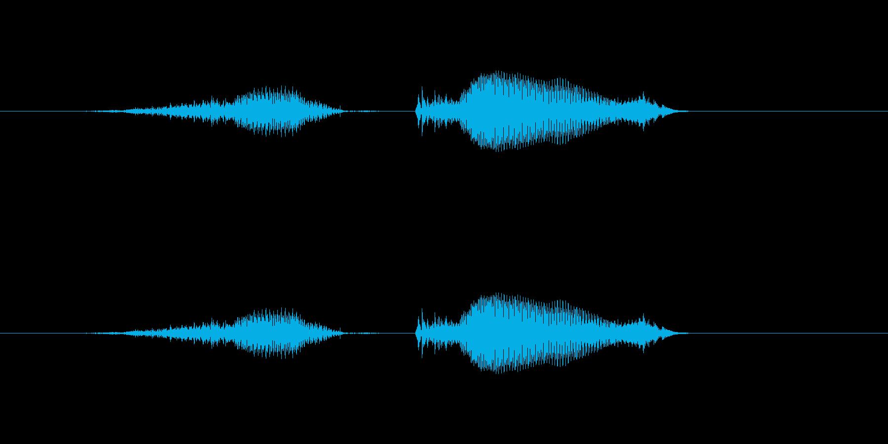 アプリ向け男性_ひく 引く(-) 計算の再生済みの波形