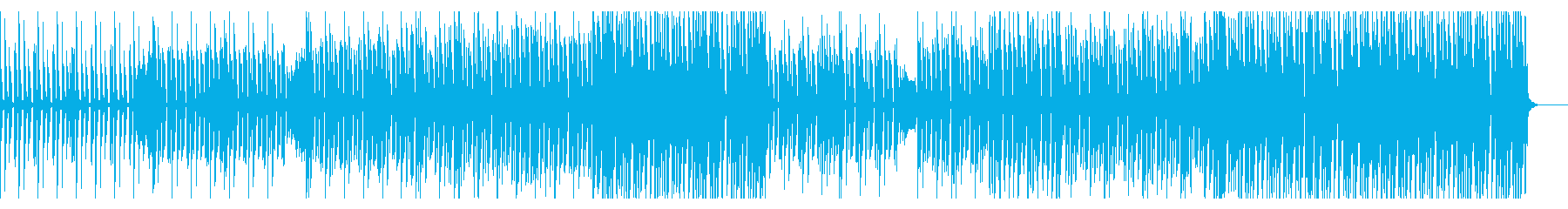 ファンキーなダンスミュージックBGMの再生済みの波形
