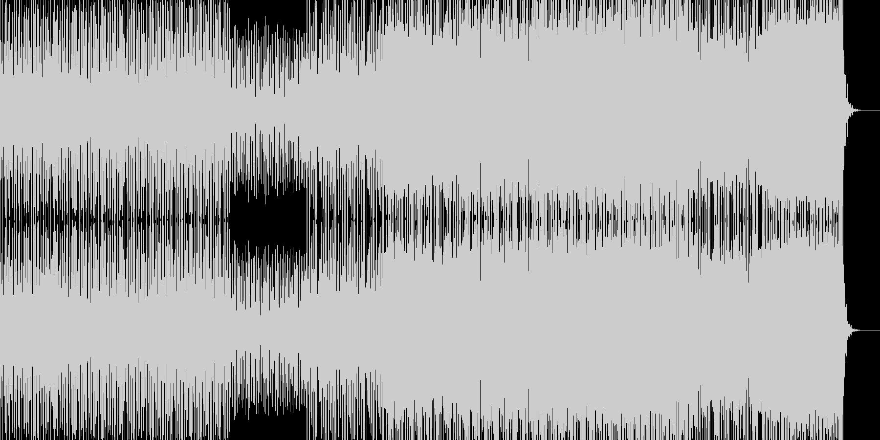 平調子音階のテクノの未再生の波形