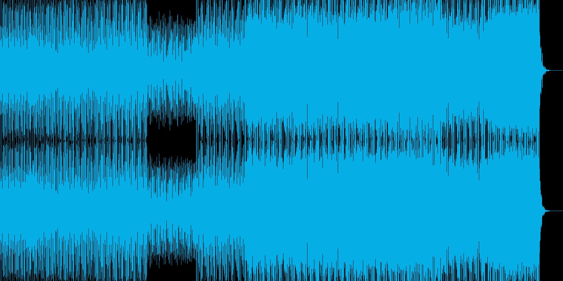 平調子音階のテクノの再生済みの波形