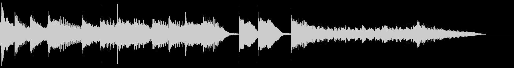 ブルース エンディング ピアノ ジングルの未再生の波形