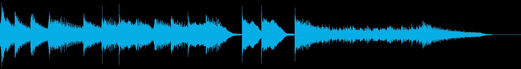 ブルース エンディング ピアノ ジングルの再生済みの波形