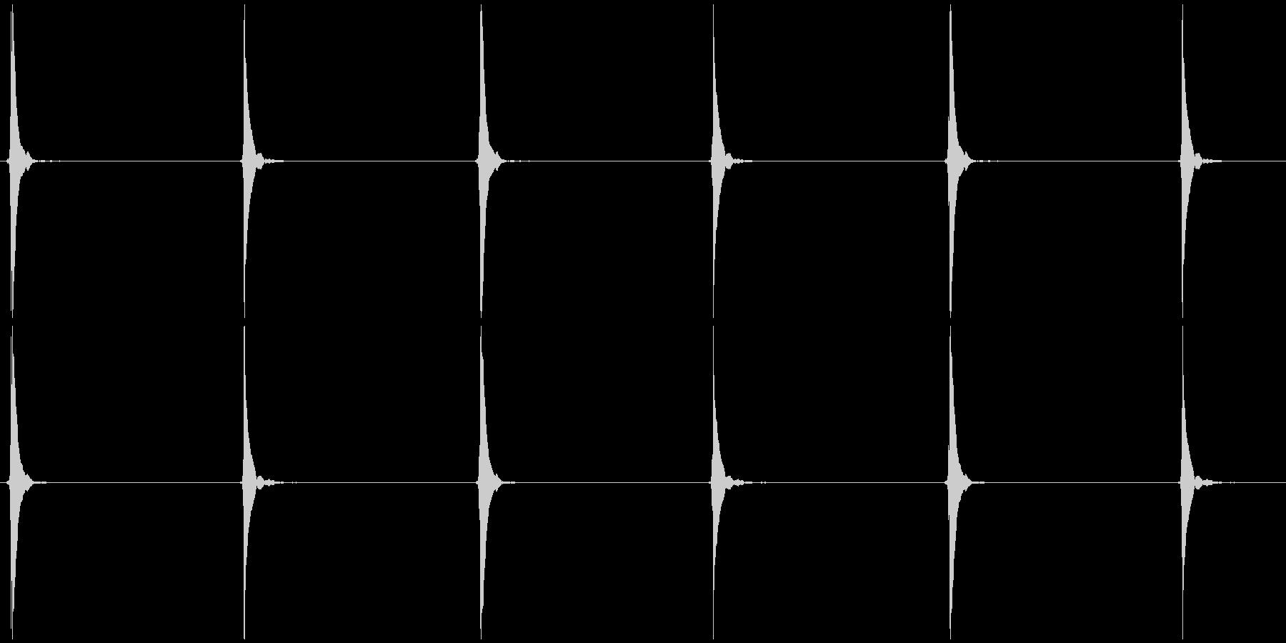 シンキングタイムB  ポッ、カッ×3の未再生の波形